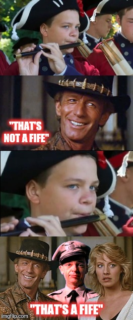 "CROCODILEBAR-NEE | ""THAT'S NOT A FIFE"" ""THAT'S A FIFE"" 