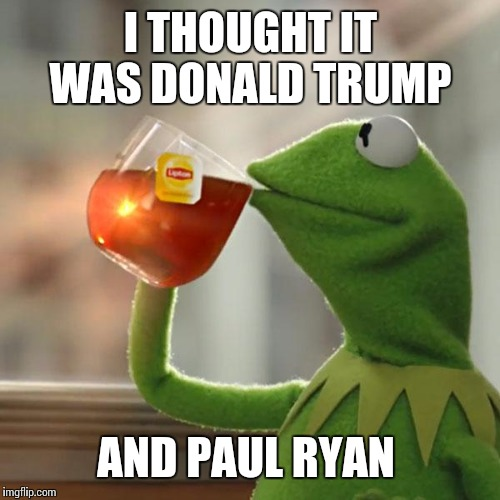 But Thats None Of My Business Meme | I THOUGHT IT WAS DONALD TRUMP AND PAUL RYAN | image tagged in memes,but thats none of my business,kermit the frog | made w/ Imgflip meme maker