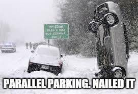 PARALLEL PARKING. NAILED IT | made w/ Imgflip meme maker