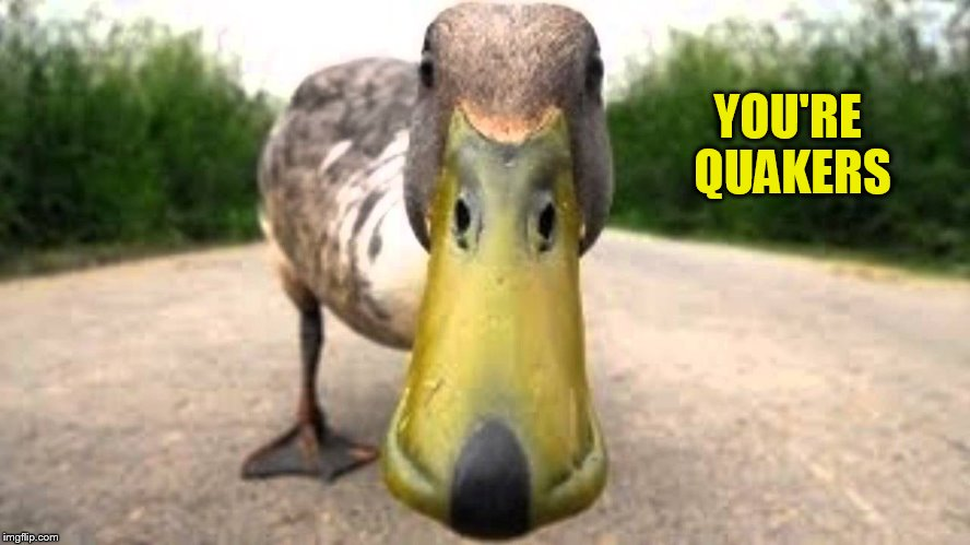 YOU'RE QUAKERS | made w/ Imgflip meme maker