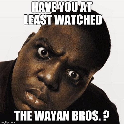 HAVE YOU AT LEAST WATCHED THE WAYAN BROS. ? | made w/ Imgflip meme maker