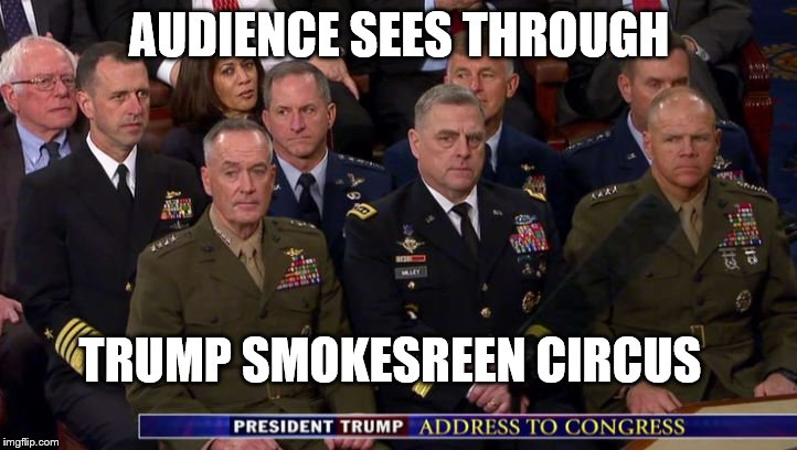 Trump Smokescreen Circus | AUDIENCE SEES THROUGH TRUMP SMOKESREEN CIRCUS | image tagged in anti trump meme | made w/ Imgflip meme maker