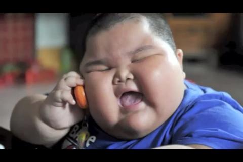 High Quality Black Money Eaten By A Funny Fat Boy Blank Meme Template