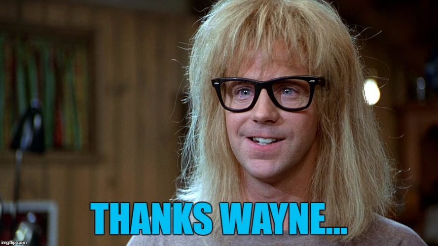 THANKS WAYNE... | made w/ Imgflip meme maker