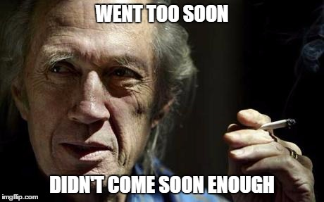 Much Soon |  WENT TOO SOON; DIDN'T COME SOON ENOUGH | image tagged in david carradine,too soon,masturbation,death,kung fu | made w/ Imgflip meme maker