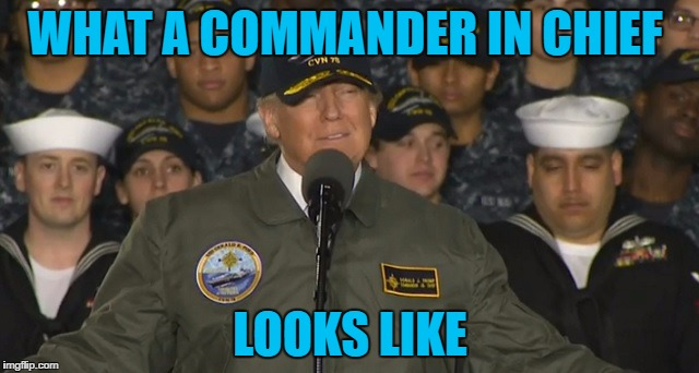 Commander In Chief |  WHAT A COMMANDER IN CHIEF; LOOKS LIKE | image tagged in memes,snowflakes,butthurt,maga | made w/ Imgflip meme maker