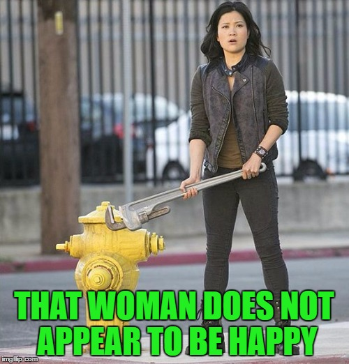 THAT WOMAN DOES NOT APPEAR TO BE HAPPY | made w/ Imgflip meme maker