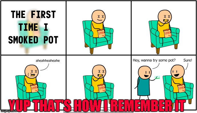 The first time I smoked pot... 420 Week... A Johnny McCheesebag event | YUP THAT'S HOW I REMEMBER IT | image tagged in first time,memes,420,funny,420 week,johnny mccheesebag | made w/ Imgflip meme maker