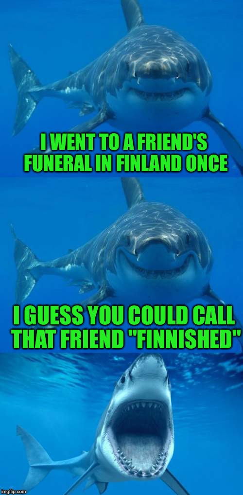 "Il est fini, n'est pas? | I WENT TO A FRIEND'S FUNERAL IN FINLAND ONCE I GUESS YOU COULD CALL THAT FRIEND ""FINNISHED"" 