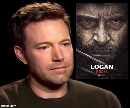 94% on RT | image tagged in ben affleck,sad affleck,logan | made w/ Imgflip meme maker