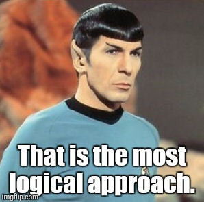 mr-spock.jpg | That is the most logical approach. | image tagged in mr-spockjpg | made w/ Imgflip meme maker