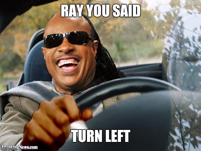RAY YOU SAID TURN LEFT | made w/ Imgflip meme maker