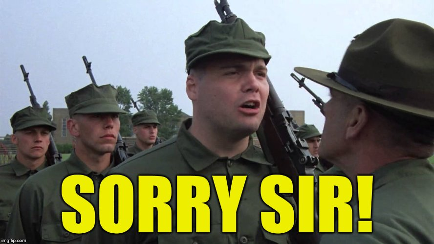 SORRY SIR! | made w/ Imgflip meme maker