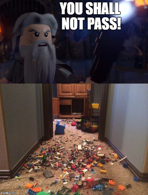 Lego week!!!! | YOU SHALL NOT PASS! | image tagged in lego,lego week,legos,gandalf,lord of the rings | made w/ Imgflip meme maker