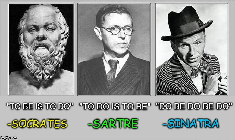"With great minds we have ""To be or not to be"" by Shakespeare; And... 