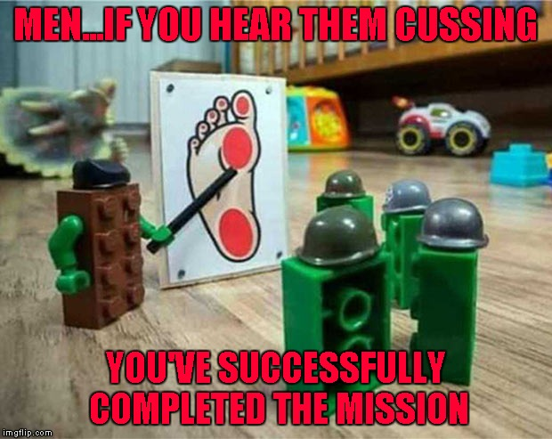 Lego Boot Camp.  Lego Week ... A JuicyDeath1025 Event |  MEN...IF YOU HEAR THEM CUSSING; YOU'VE SUCCESSFULLY COMPLETED THE MISSION | image tagged in lego boot camp,memes,legos,funny,lego week,juicydeath1025 | made w/ Imgflip meme maker