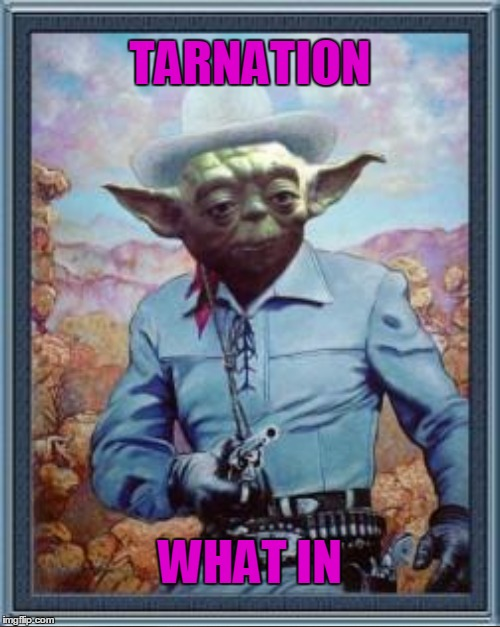 Oh yes I did | TARNATION WHAT IN | image tagged in memes,cowboy yoda,tarnation,what in tarnation | made w/ Imgflip meme maker