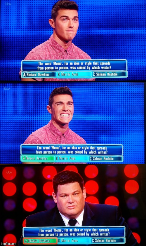 Luis v The Chaser | image tagged in memes,the chaser,uk,gameshow,fail,itv | made w/ Imgflip meme maker