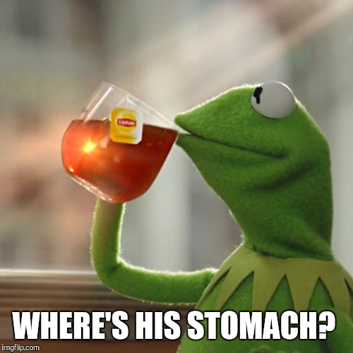 But Thats None Of My Business Meme | WHERE'S HIS STOMACH? | image tagged in memes,but thats none of my business,kermit the frog | made w/ Imgflip meme maker