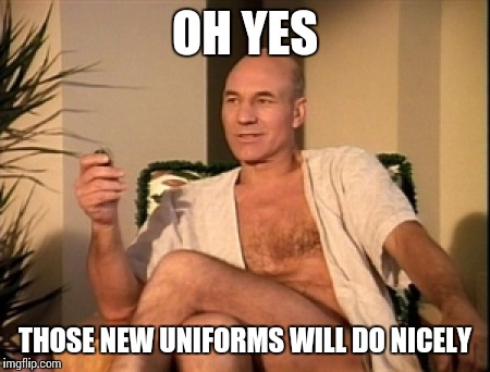 OH YES THOSE NEW UNIFORMS WILL DO NICELY | made w/ Imgflip meme maker
