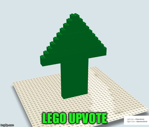 LEGO UPVOTE | made w/ Imgflip meme maker