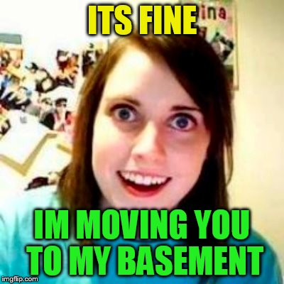 ITS FINE IM MOVING YOU TO MY BASEMENT | made w/ Imgflip meme maker