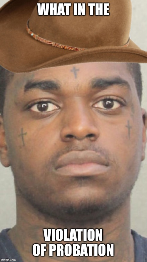 WHAT IN THE; VIOLATION OF PROBATION | image tagged in what in tarnation,kodak meme,viral meme,funny memes,lmao | made w/ Imgflip meme maker
