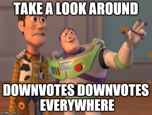 X, X Everywhere Meme | TAKE A LOOK AROUND DOWNVOTES DOWNVOTES EVERYWHERE | image tagged in memes,x,x everywhere,x x everywhere | made w/ Imgflip meme maker