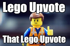 Lego Upvote That Lego Upvote | made w/ Imgflip meme maker