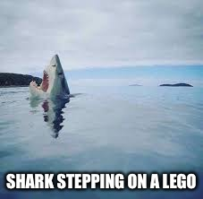 SHARK STEPPING ON A LEGO | made w/ Imgflip meme maker