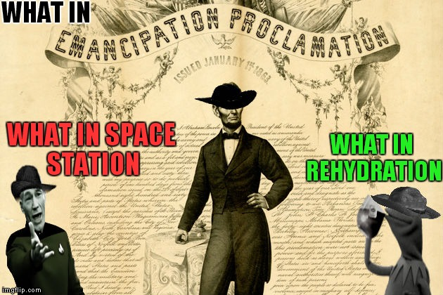 WHAT IN WHAT IN REHYDRATION WHAT IN SPACE STATION | made w/ Imgflip meme maker