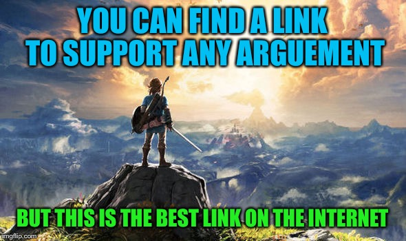 Wanted to drop my Imageflippers the Best Link on the Internet for over thirty years | YOU CAN FIND A LINK TO SUPPORT ANY ARGUEMENT BUT THIS IS THE BEST LINK ON THE INTERNET | image tagged in zelda,funny,memes,nintendo switch,gifs,animals | made w/ Imgflip meme maker