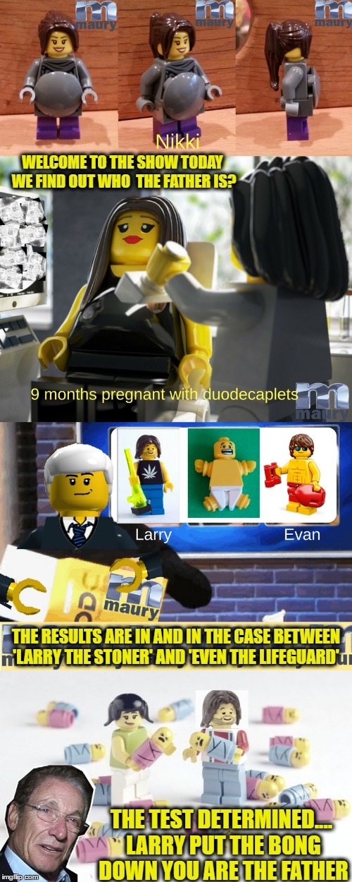 "Episode ""Prego Lego"" today on Maury's Lego Week 