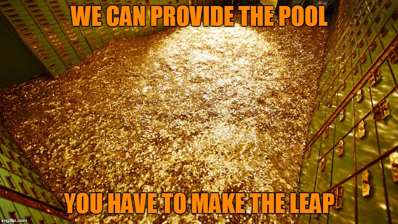 WE CAN PROVIDE THE POOL YOU HAVE TO MAKE THE LEAP | made w/ Imgflip meme maker