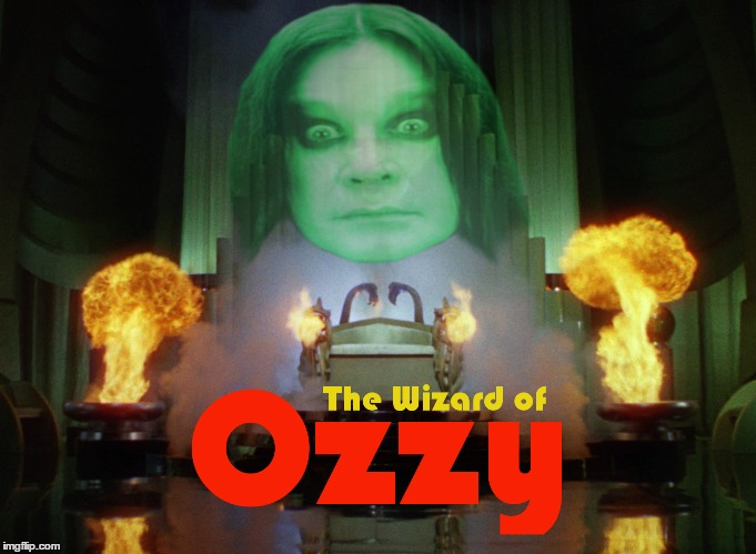 One must take the Metal Brick Road to see him | THE WIZARD OF OZZY | image tagged in memes,the wizard of ozzy,wizard of oz,ozzy,metal brick road | made w/ Imgflip meme maker