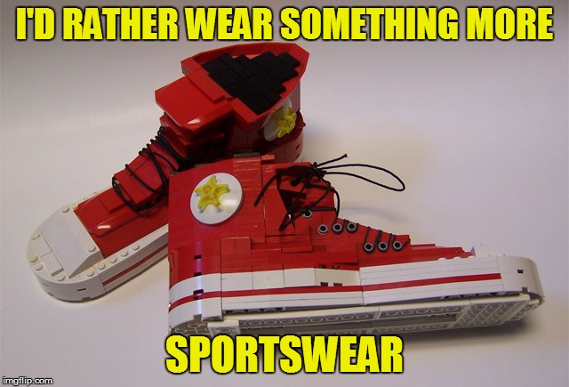 I'D RATHER WEAR SOMETHING MORE SPORTSWEAR | made w/ Imgflip meme maker