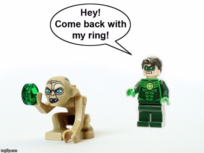 My new prescious . . .  | image tagged in memes,green lantern,lotr | made w/ Imgflip meme maker
