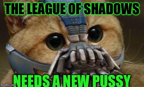 THE LEAGUE OF SHADOWS NEEDS A NEW PUSSY | made w/ Imgflip meme maker