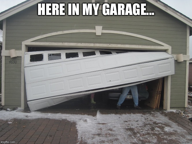 Funny Garage Door : If vanoss was high and could lift a car with his pinky