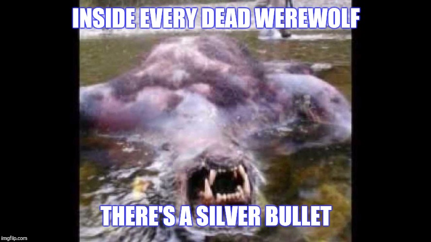 INSIDE EVERY DEAD WEREWOLF THERE'S A SILVER BULLET | made w/ Imgflip meme maker