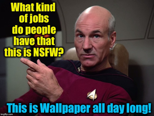 What kind of jobs do people have that this is NSFW? This is Wallpaper all day long! | made w/ Imgflip meme maker