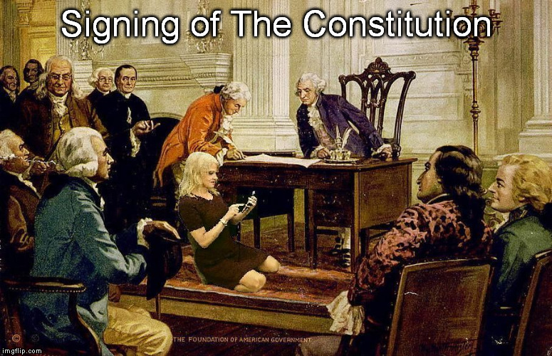Signing of The Constitution | Signing of The Constitution | image tagged in kellyanne conway sofa white house art meme | made w/ Imgflip meme maker