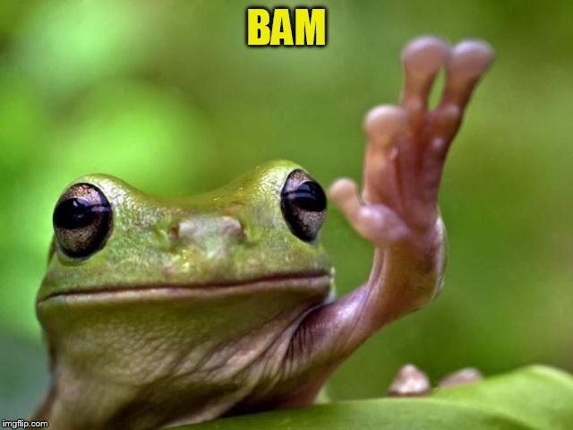 BAM | made w/ Imgflip meme maker