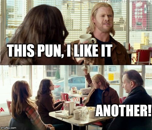Thor | THIS PUN, I LIKE IT ANOTHER! | image tagged in thor | made w/ Imgflip meme maker