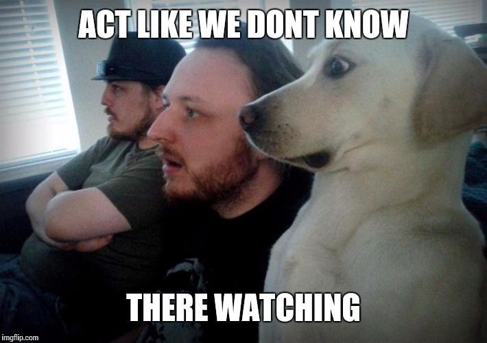ACT LIKE WE DONT KNOW THERE WATCHING | made w/ Imgflip meme maker