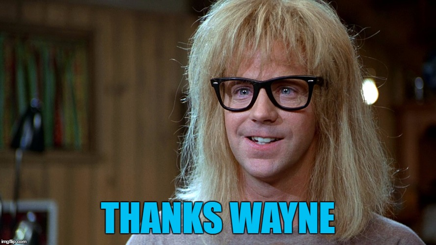 THANKS WAYNE | image tagged in dashhopes | made w/ Imgflip meme maker