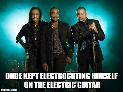 DUDE KEPT ELECTROCUTING HIMSELF ON THE ELECTRIC GUITAR | made w/ Imgflip meme maker