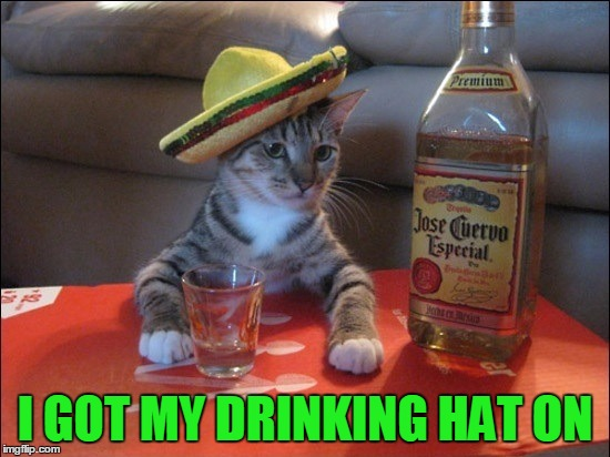 I GOT MY DRINKING HAT ON | made w/ Imgflip meme maker