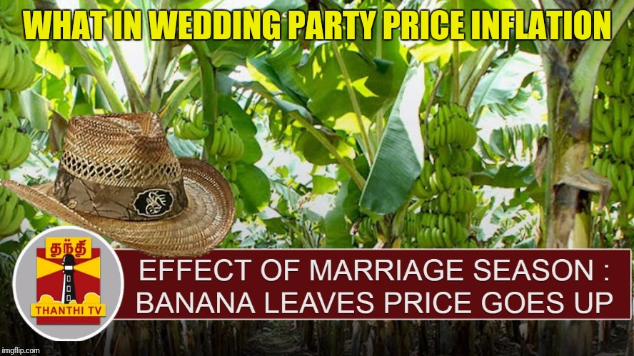 WHAT IN WEDDING PARTY PRICE INFLATION | made w/ Imgflip meme maker