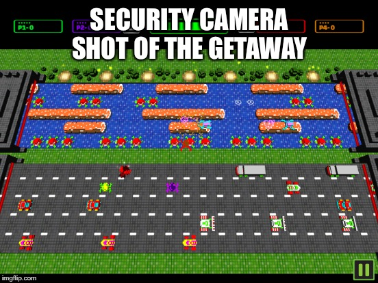 SECURITY CAMERA SHOT OF THE GETAWAY | made w/ Imgflip meme maker